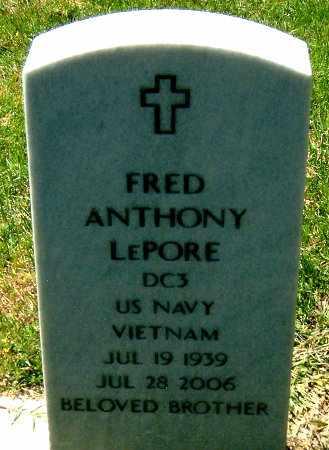 LE PORE, FREDERICK ANTHONY - Salt Lake County, Utah   FREDERICK ANTHONY LE PORE - Utah Gravestone Photos