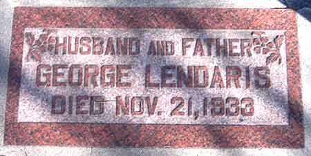 LENDARIS, GEORGE - Salt Lake County, Utah | GEORGE LENDARIS - Utah Gravestone Photos
