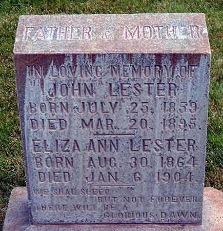 LESTER, ELIZA ANN - Salt Lake County, Utah | ELIZA ANN LESTER - Utah Gravestone Photos