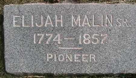 MALIN, ELIJAH - Salt Lake County, Utah | ELIJAH MALIN - Utah Gravestone Photos