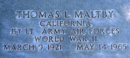 MALTBY (WWII), THOMAS L - Salt Lake County, Utah   THOMAS L MALTBY (WWII) - Utah Gravestone Photos