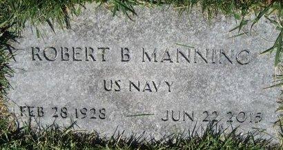 MANNING, ROBERT B - Salt Lake County, Utah | ROBERT B MANNING - Utah Gravestone Photos