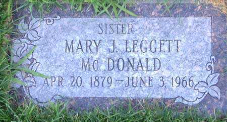 LEGGETT, MARY JANE - Salt Lake County, Utah | MARY JANE LEGGETT - Utah Gravestone Photos