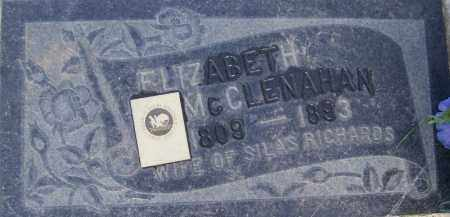MCCLENAHAN, ELIZABETH - Salt Lake County, Utah   ELIZABETH MCCLENAHAN - Utah Gravestone Photos