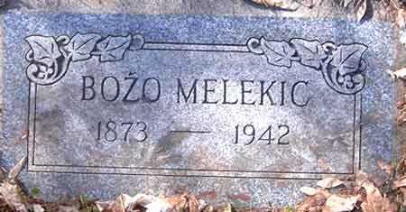 MELEKIC, BOZO - Salt Lake County, Utah   BOZO MELEKIC - Utah Gravestone Photos