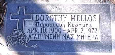 MELLOS, DOROTHY - Salt Lake County, Utah   DOROTHY MELLOS - Utah Gravestone Photos
