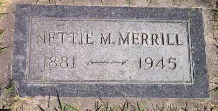 MERRILL, NETTIE - Salt Lake County, Utah   NETTIE MERRILL - Utah Gravestone Photos