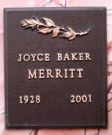 BAKER MERRITT, JOYCE EVELYN - Salt Lake County, Utah | JOYCE EVELYN BAKER MERRITT - Utah Gravestone Photos