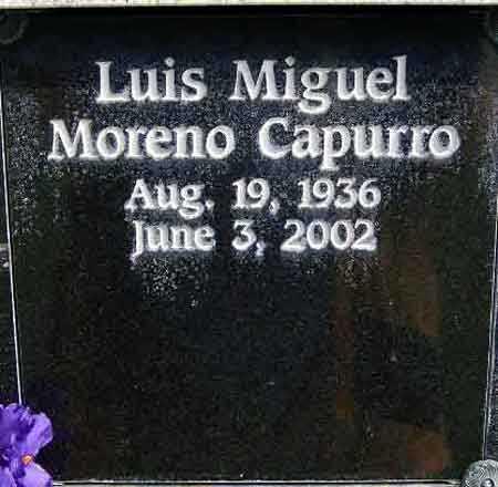 MORENO Y CAPURRO, LUIS MIGUEL - Salt Lake County, Utah | LUIS MIGUEL MORENO Y CAPURRO - Utah Gravestone Photos