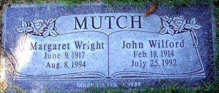 MUTCH, JOHN WILFORD - Salt Lake County, Utah | JOHN WILFORD MUTCH - Utah Gravestone Photos