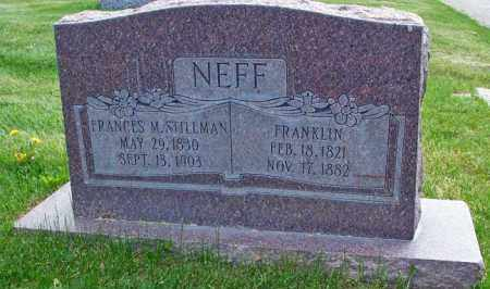 NEFF, FRANKLIN - Salt Lake County, Utah | FRANKLIN NEFF - Utah Gravestone Photos