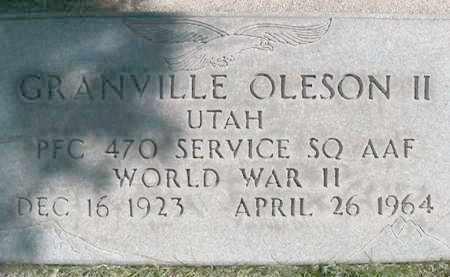 OLESON II (WWII), GRANVILLE - Salt Lake County, Utah | GRANVILLE OLESON II (WWII) - Utah Gravestone Photos