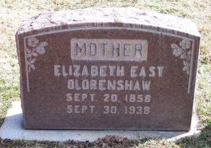 EAST OLORENSHAW, ELIZABETH - Salt Lake County, Utah   ELIZABETH EAST OLORENSHAW - Utah Gravestone Photos