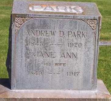 PARK, ANDREW DUNCAN - Salt Lake County, Utah   ANDREW DUNCAN PARK - Utah Gravestone Photos