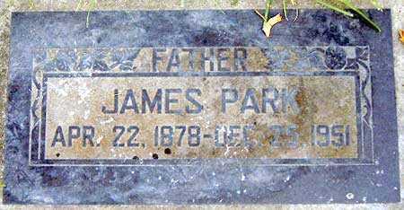 PARK, JAMES - Salt Lake County, Utah | JAMES PARK - Utah Gravestone Photos