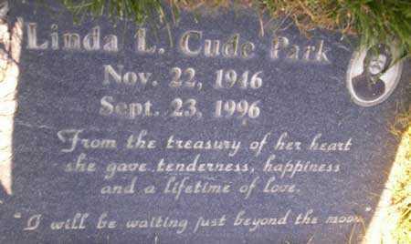 CUDE PARK, LINDA LOUIVA - Salt Lake County, Utah | LINDA LOUIVA CUDE PARK - Utah Gravestone Photos