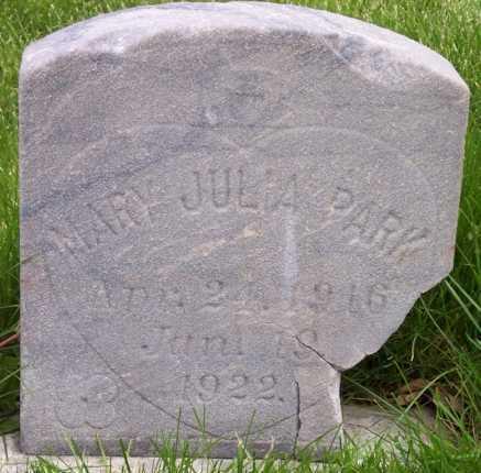 PARK, MARY JULIA - Salt Lake County, Utah   MARY JULIA PARK - Utah Gravestone Photos