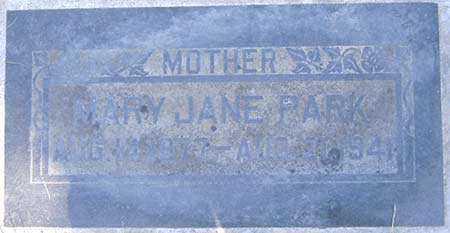 PARK, MARY JANE - Salt Lake County, Utah | MARY JANE PARK - Utah Gravestone Photos