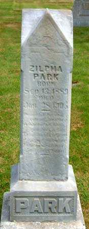 PARK, ZILPHA - Salt Lake County, Utah   ZILPHA PARK - Utah Gravestone Photos