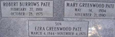 GREENWOOD PATE, MARY - Salt Lake County, Utah | MARY GREENWOOD PATE - Utah Gravestone Photos
