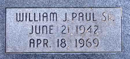 PAUL, WILLIAM JAMES, SR. - Salt Lake County, Utah | WILLIAM JAMES, SR. PAUL - Utah Gravestone Photos