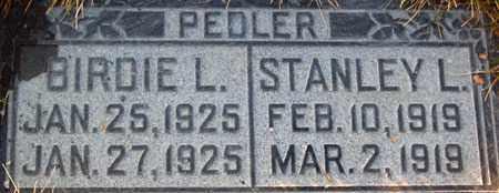 PEDLER, BIRDIE LA VERNE - Salt Lake County, Utah | BIRDIE LA VERNE PEDLER - Utah Gravestone Photos