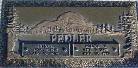 PEDLER, HILDA - Salt Lake County, Utah | HILDA PEDLER - Utah Gravestone Photos