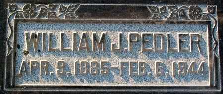PEDLER, WILLIAM JOSEPH - Salt Lake County, Utah | WILLIAM JOSEPH PEDLER - Utah Gravestone Photos