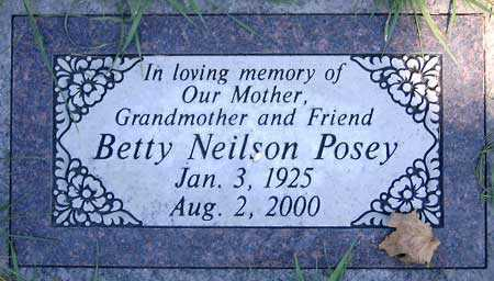 POSEY, BETTY - Salt Lake County, Utah | BETTY POSEY - Utah Gravestone Photos