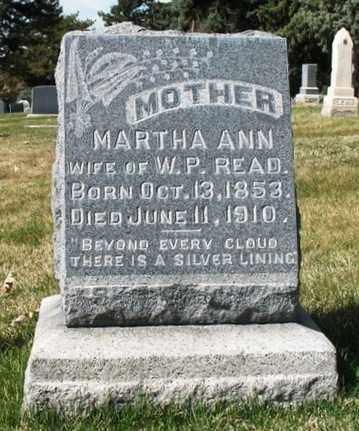 READ, MARTHA ANN - Salt Lake County, Utah | MARTHA ANN READ - Utah Gravestone Photos