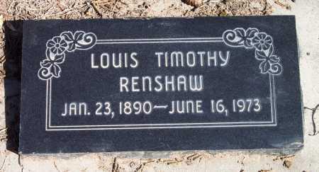 RENSHAW, LOUIS TIMOTHY - Salt Lake County, Utah | LOUIS TIMOTHY RENSHAW - Utah Gravestone Photos