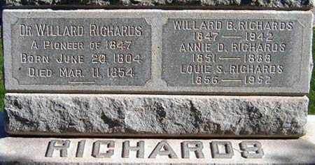 DOREMUS RICHARDS, HARRIET ANNIE FAIRBANKS - Salt Lake County, Utah | HARRIET ANNIE FAIRBANKS DOREMUS RICHARDS - Utah Gravestone Photos