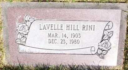 HILL, LAVELLE FREELOVE - Salt Lake County, Utah   LAVELLE FREELOVE HILL - Utah Gravestone Photos