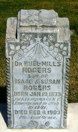 ROGERS, RUEL MILLS - Salt Lake County, Utah | RUEL MILLS ROGERS - Utah Gravestone Photos