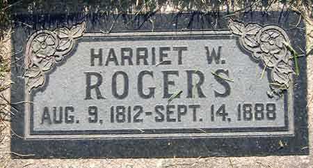 ROGERS, HARRIET W. - Salt Lake County, Utah | HARRIET W. ROGERS - Utah Gravestone Photos