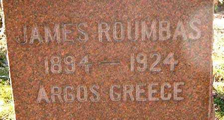 ROUMBAS, JAMES - Salt Lake County, Utah | JAMES ROUMBAS - Utah Gravestone Photos