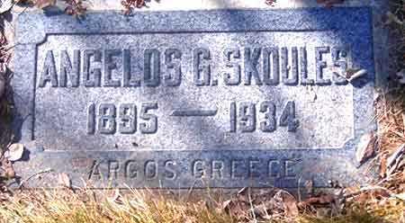 SKOULES, ANGELOS G. - Salt Lake County, Utah   ANGELOS G. SKOULES - Utah Gravestone Photos