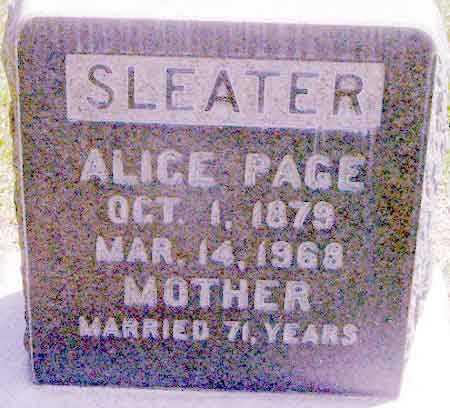 PAGE, ALICE - Salt Lake County, Utah | ALICE PAGE - Utah Gravestone Photos
