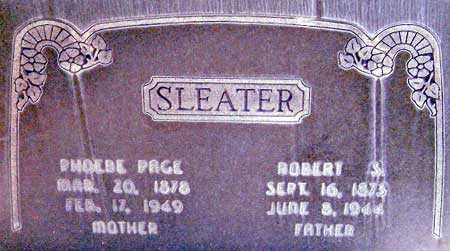 SLEATER, PHOEBE - Salt Lake County, Utah | PHOEBE SLEATER - Utah Gravestone Photos