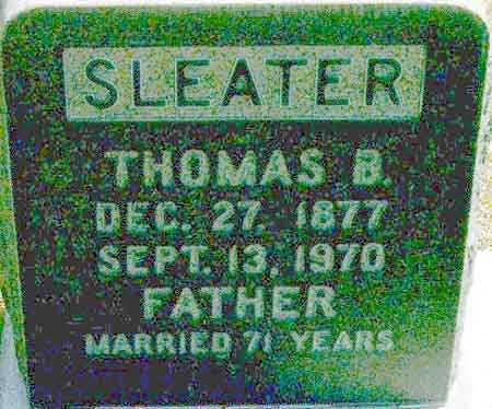 SLEATER, THOMAS BURDETTE - Salt Lake County, Utah   THOMAS BURDETTE SLEATER - Utah Gravestone Photos