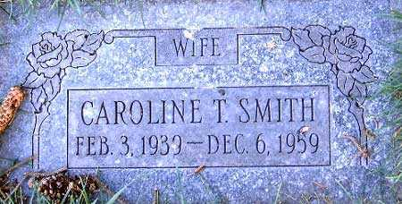 SMITH, CAROLINE T. - Salt Lake County, Utah | CAROLINE T. SMITH - Utah Gravestone Photos