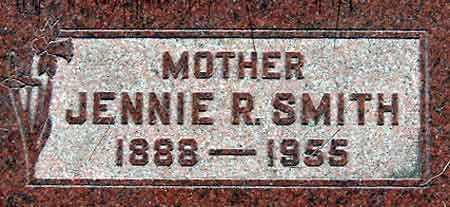 SMITH, JENNIE - Salt Lake County, Utah | JENNIE SMITH - Utah Gravestone Photos