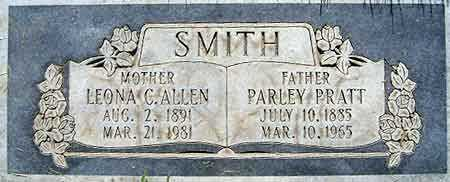 SMITH, LEONA CAROLINE - Salt Lake County, Utah | LEONA CAROLINE SMITH - Utah Gravestone Photos