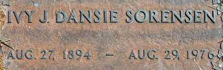 DANSIE, IVY JANE - Salt Lake County, Utah | IVY JANE DANSIE - Utah Gravestone Photos