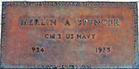 SPENCER, MERLIN A - Salt Lake County, Utah   MERLIN A SPENCER - Utah Gravestone Photos