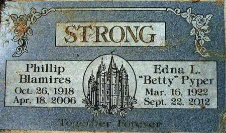STRONG, EDNA LOURAINE - Salt Lake County, Utah | EDNA LOURAINE STRONG - Utah Gravestone Photos