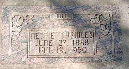 TASWLES, NETTIE MAY - Salt Lake County, Utah | NETTIE MAY TASWLES - Utah Gravestone Photos