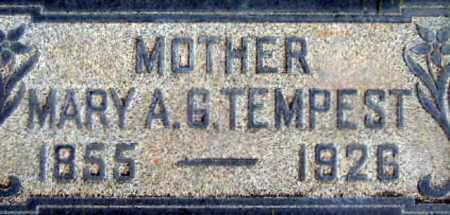 GILES TEMPEST, MARY ANN REBECCA - Salt Lake County, Utah | MARY ANN REBECCA GILES TEMPEST - Utah Gravestone Photos