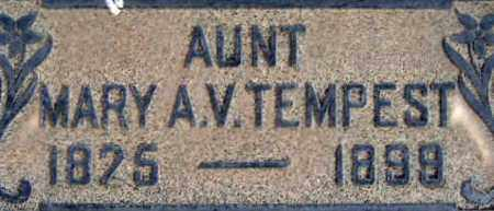 VINCENT TEMPEST, MARY ANN - Salt Lake County, Utah | MARY ANN VINCENT TEMPEST - Utah Gravestone Photos