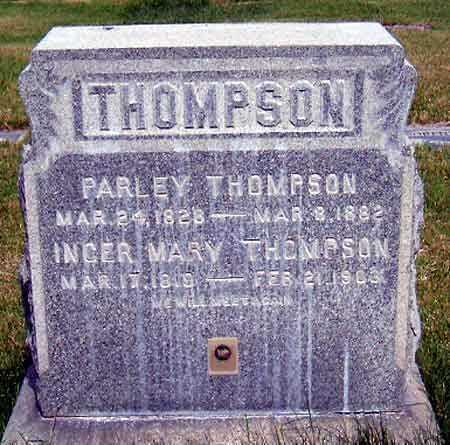 THOMPSON, INGER MARY - Salt Lake County, Utah | INGER MARY THOMPSON - Utah Gravestone Photos